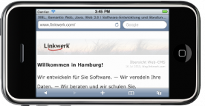 Die iPhone-optimierte Linkwerkseite